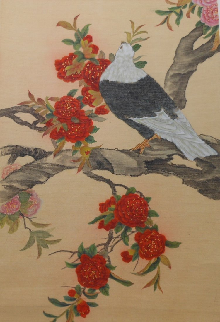 Chinese color painting on silk scroll - 3