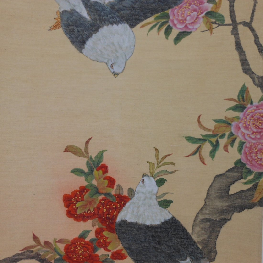 Chinese color painting on silk scroll - 5