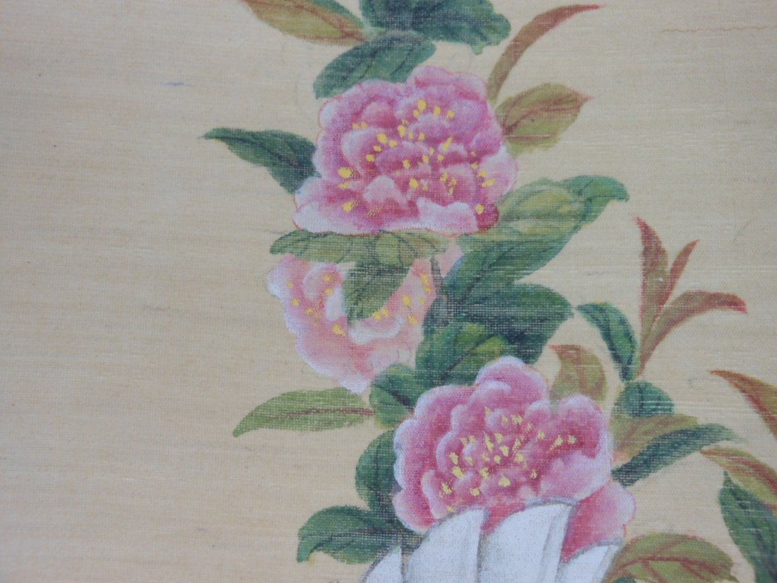 Chinese color painting on silk scroll - 7