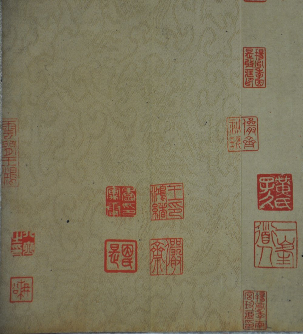 A Chinese antique color painting paper scroll - 10