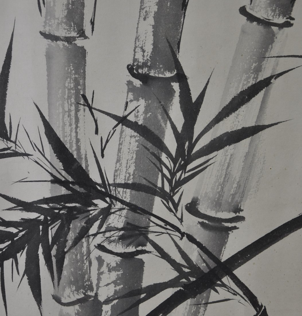 A Chinese color painting paper scroll - 3