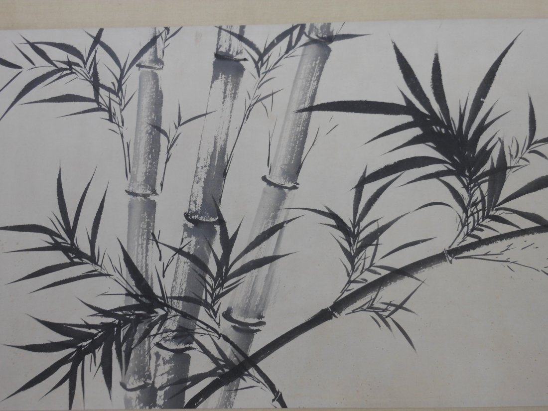 A Chinese color painting paper scroll - 6
