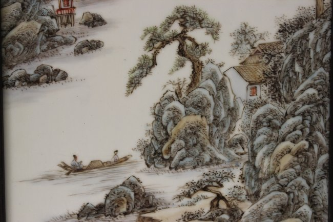 2 Chinese 20th century enameled porcelain plaque - 7