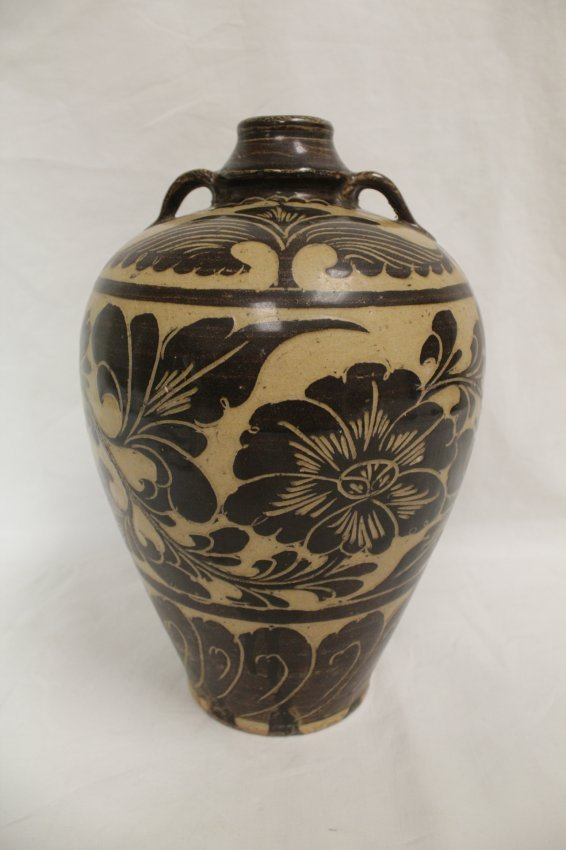 A Chinese song-style (chizhou yao) porcelain meiping