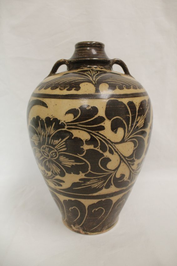 A Chinese song-style (chizhou yao) porcelain meiping - 3