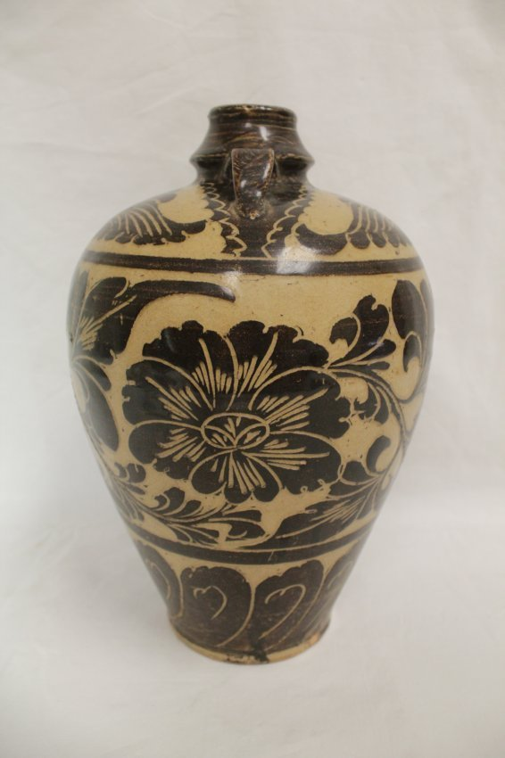 A Chinese song-style (chizhou yao) porcelain meiping - 4