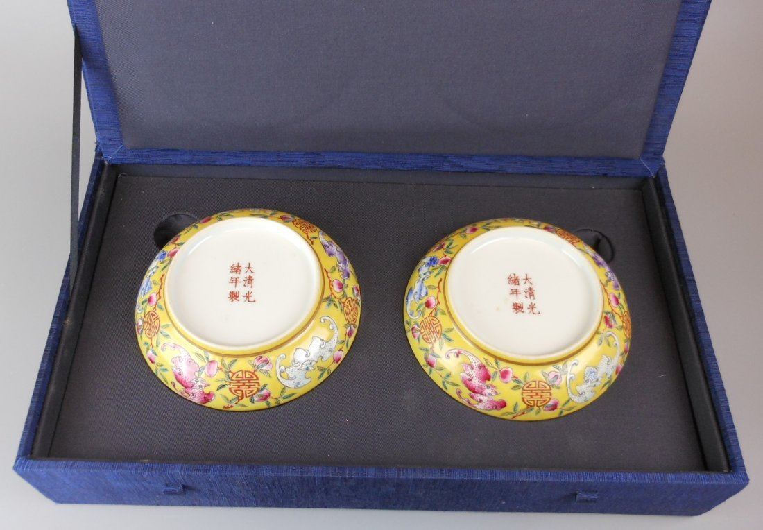 2 beautiful Chinese qing-dynasty porcelain plates - 2