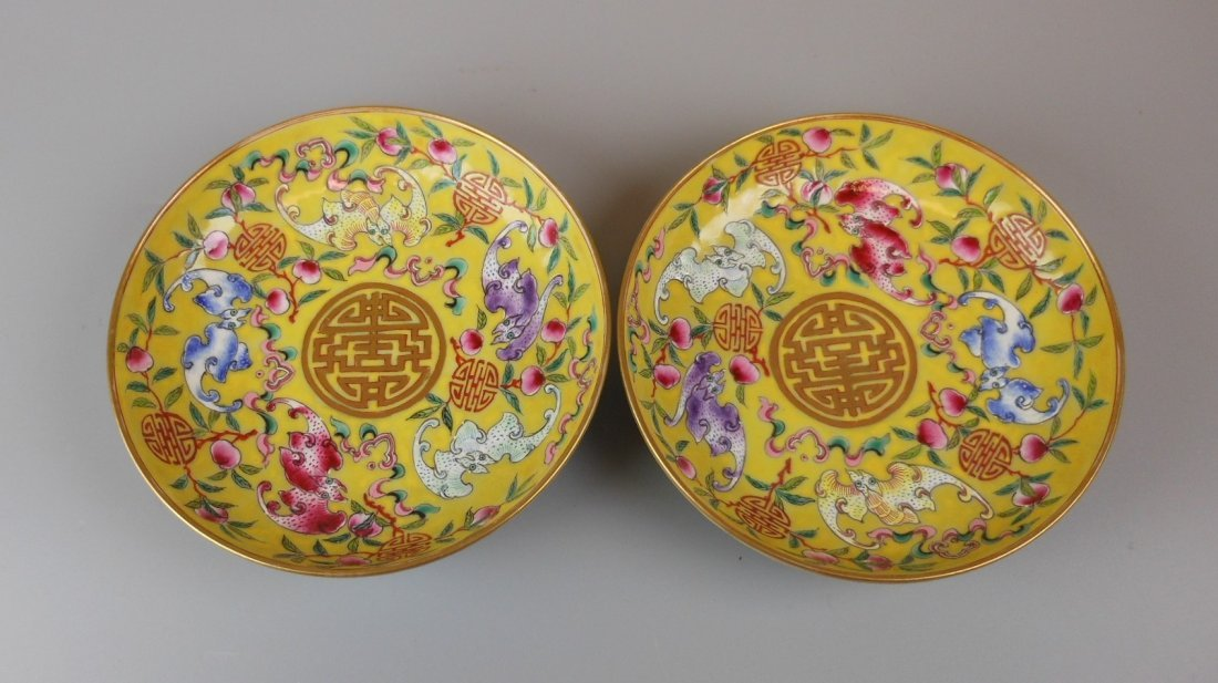 2 beautiful Chinese qing-dynasty porcelain plates - 3