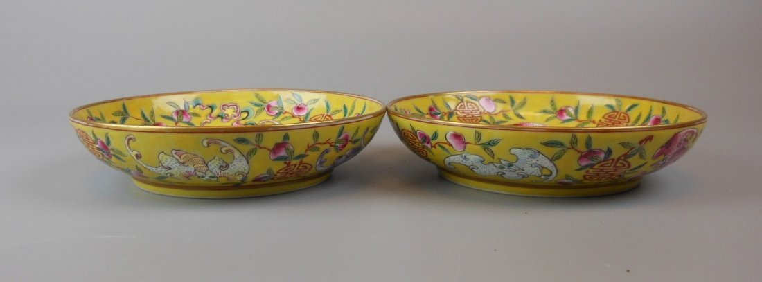 2 beautiful Chinese qing-dynasty porcelain plates - 6