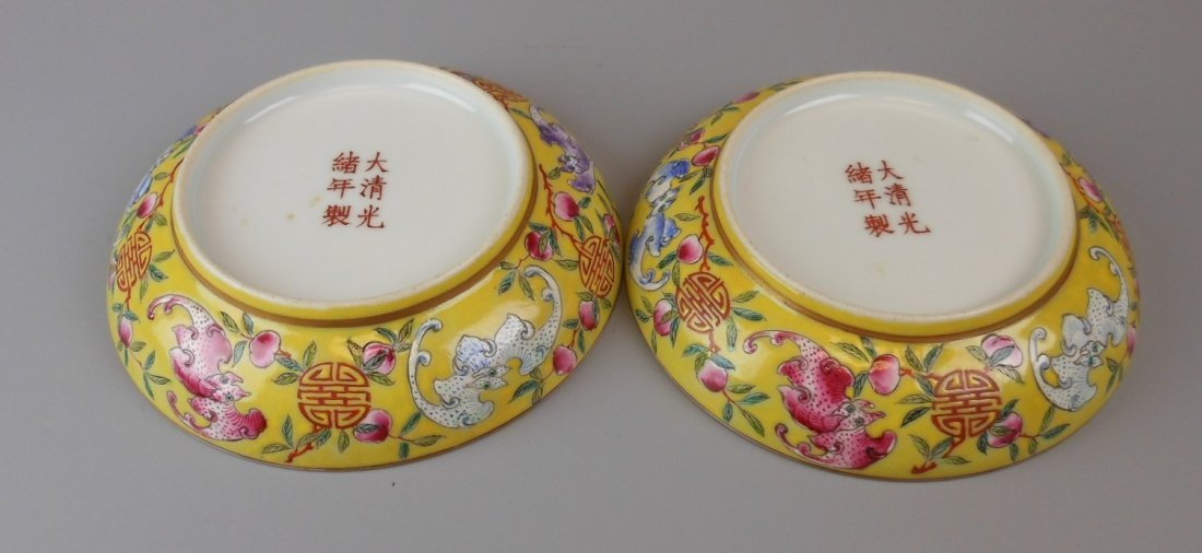 2 beautiful Chinese qing-dynasty porcelain plates - 7