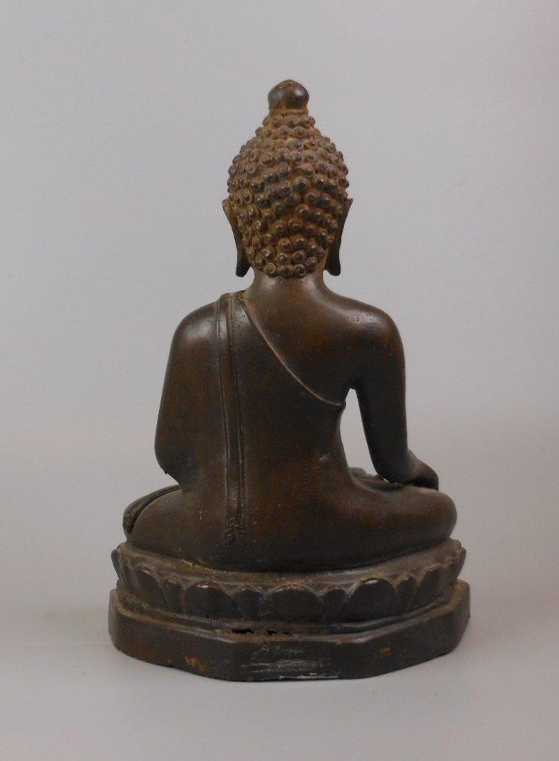 A Chinese antique bronze Buddha - 2