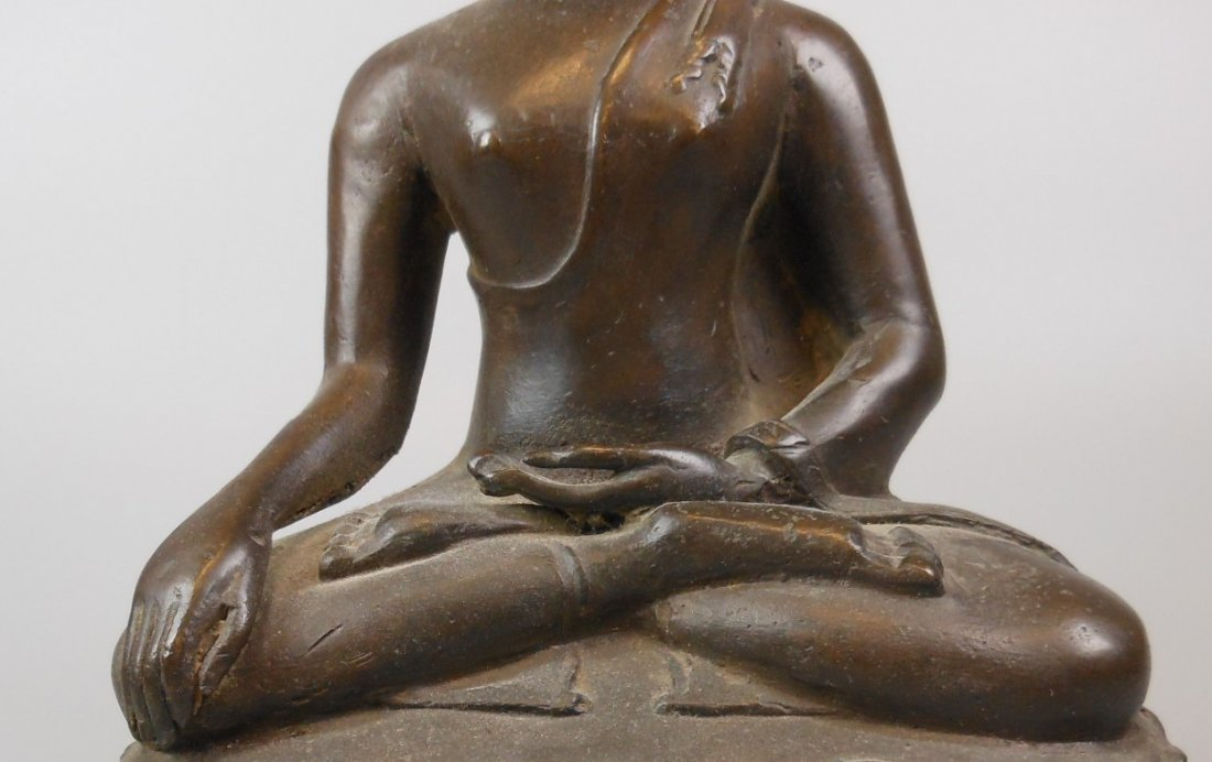 A Chinese antique bronze Buddha - 6