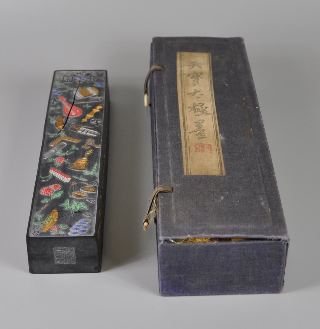 A Chinese antique ming-dynasty ink stick