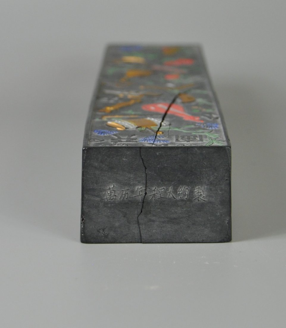 A Chinese antique ming-dynasty ink stick - 9