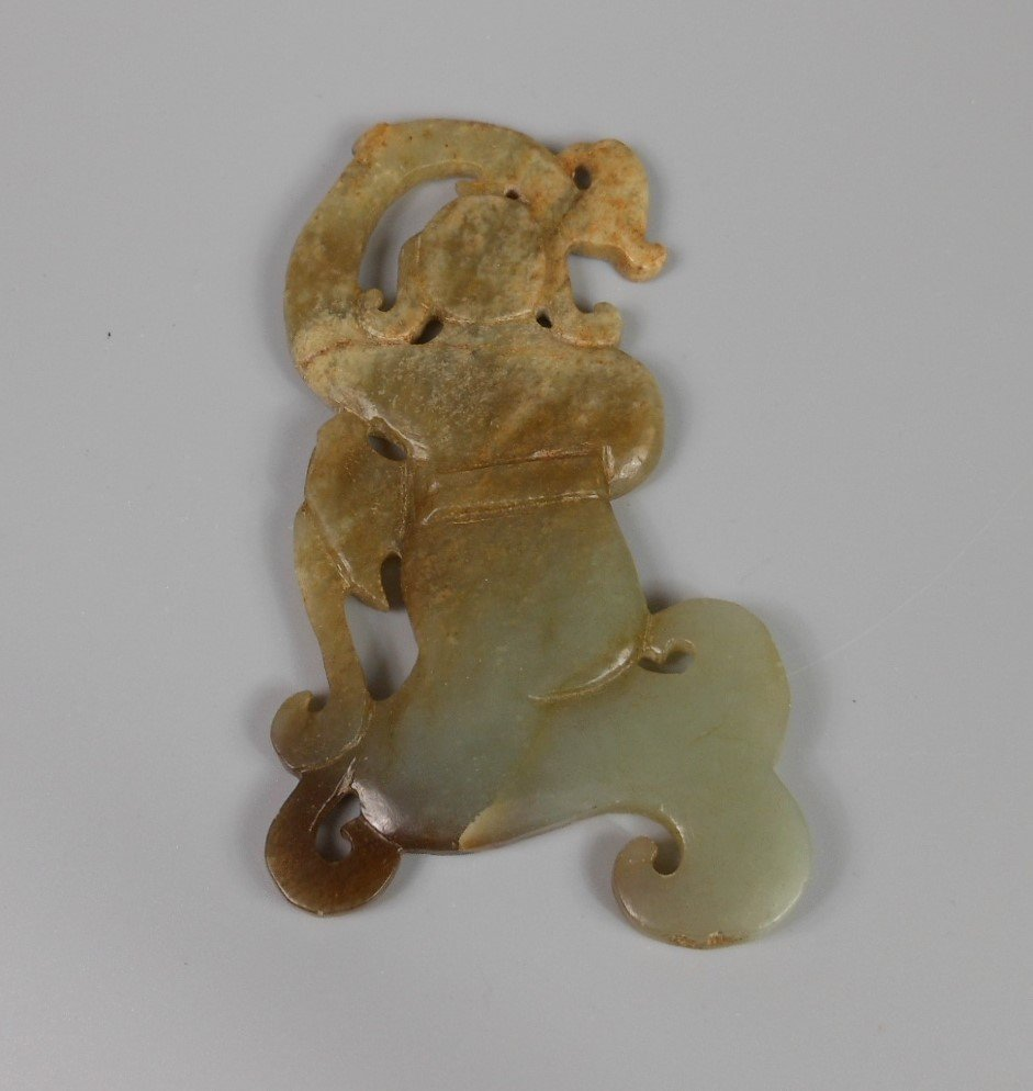 A Chinese antique jade carved figure - 2
