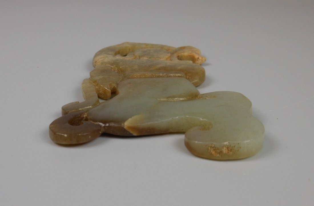 A Chinese antique jade carved figure - 3