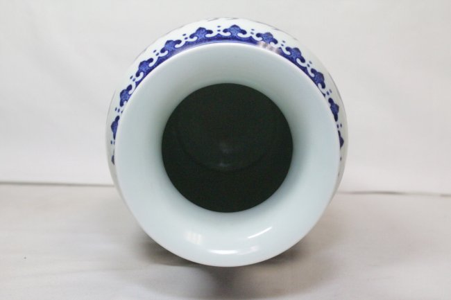 A beautiful Chinese blue and white porcelain vase - 5