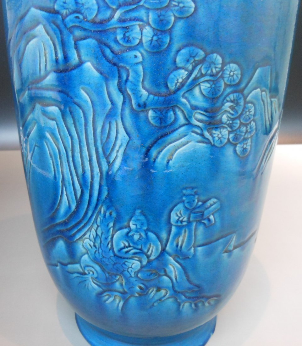 A Chinese antique cobalt blue monochrome porcelain vase - 2