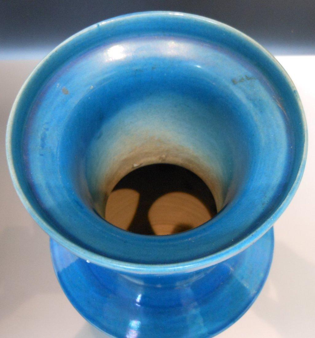 A Chinese antique cobalt blue monochrome porcelain vase - 3