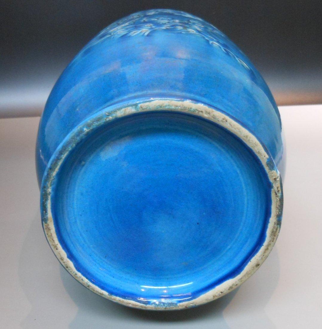 A Chinese antique cobalt blue monochrome porcelain vase - 4