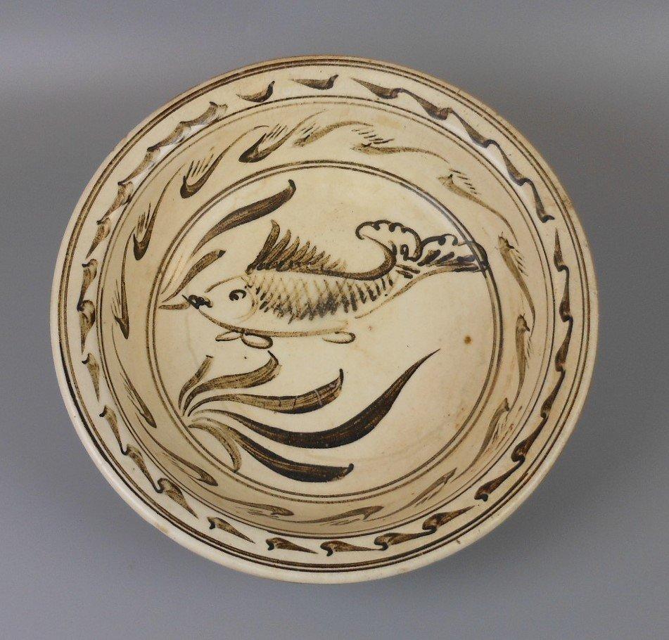 A Chinese yuan-dynasty cizhou-yao porcelain bowl - 2