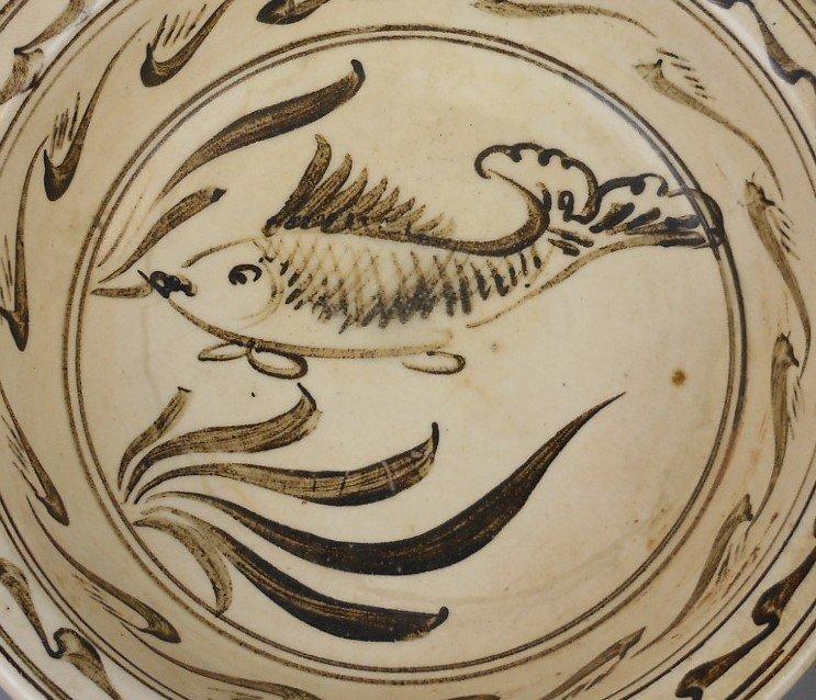 A Chinese yuan-dynasty cizhou-yao porcelain bowl - 3