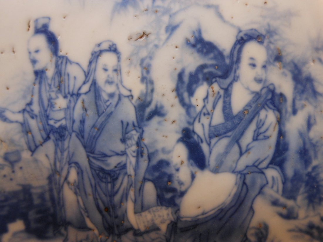 A Chinese antique round porcelain plaque - 4
