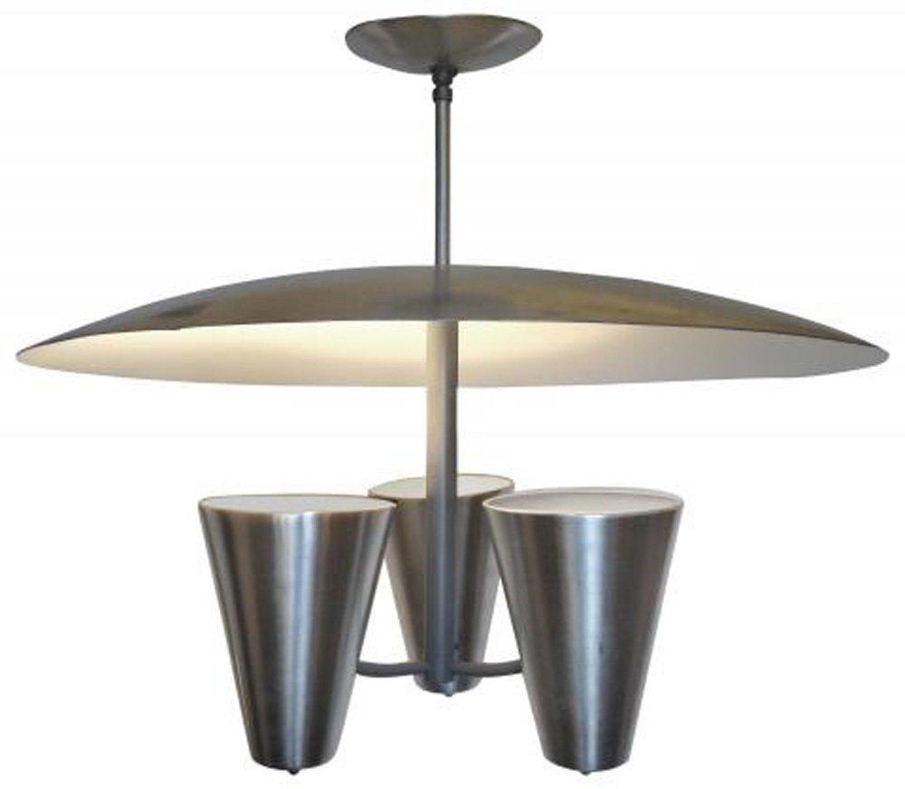 Modernist Aluminum Light By Edward Wormley