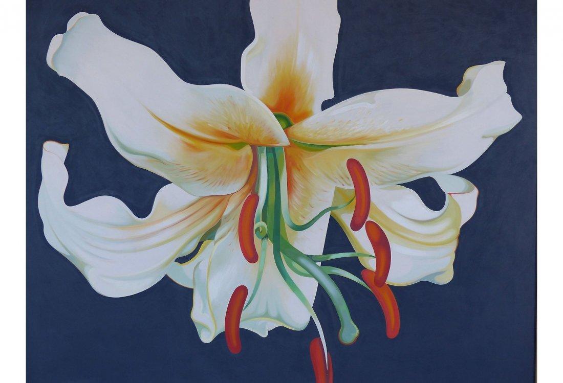 Huge Lowell Nesbitt Oil Painting On Canvas '64