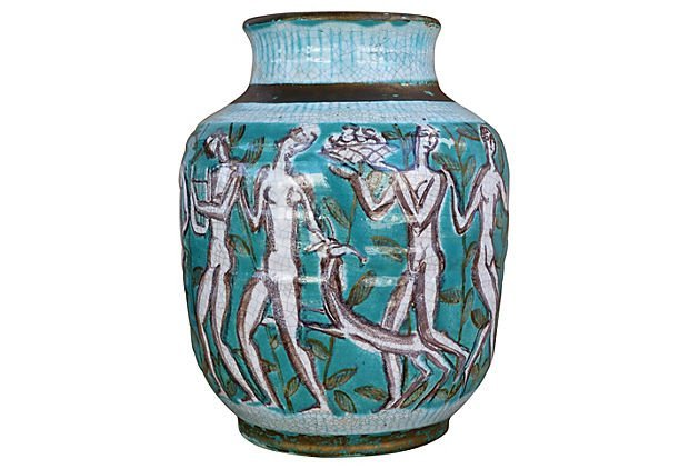 Rare Vase by French Ceramicist Edouard Cazaux