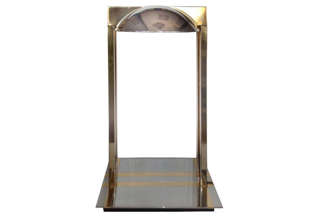 Brass & Chrome Modernist Desk Lamp Karl Springer Style