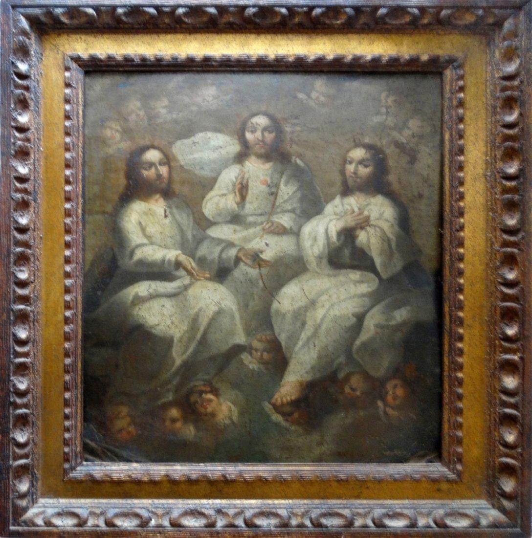 Large Spanish Colonial Religious Retablo