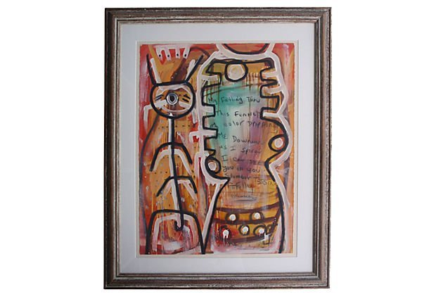 Mixed Media Abstract Painting by Danny Simmons