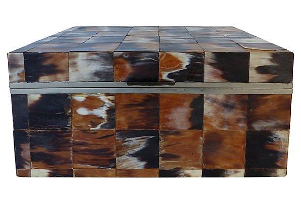 Mid-century Modern Box in Horn Tiles