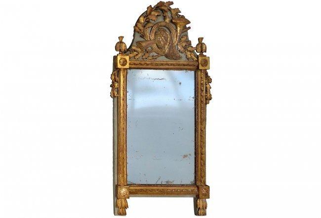 Antique European Carved Gilt-wood Mirror