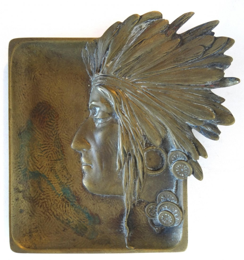 Petite Bronze Sculpted Indian Jewelry Tray