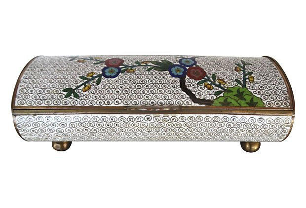 Asian  Cloisonné Enamel Domed Hinged Box