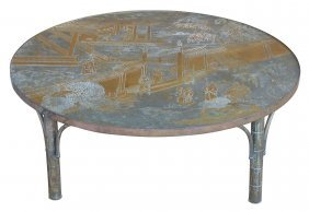 Philip & Kelvin Laverne Bronze Chan Coffee Table