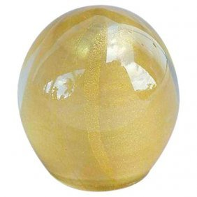 Murano Avventurina Gold Flake Paper-weight