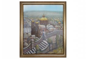 Mexico City By Latin Artist Jesus Ortiz Tajonar