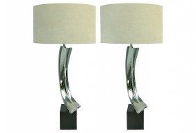 Laurel Mid-century Modern Nickel Lamps