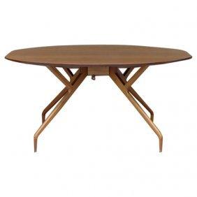 Greta Grossman Walnut Table For Glenn Of Ca