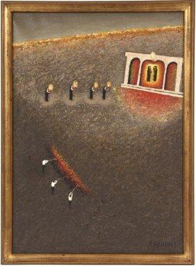 """ruinas"" Oil Painting By Eduardo Esquivel"