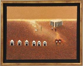 """los Antiguos"" Oil Painting By Eduardo Esquivel"