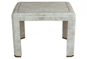 Tessellated Stone Side Table Att. Maitland-smith