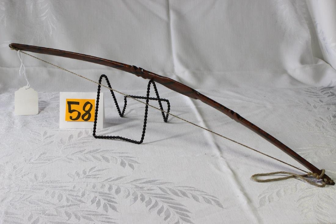 Small Carved Wood Indonesian Bow - 2