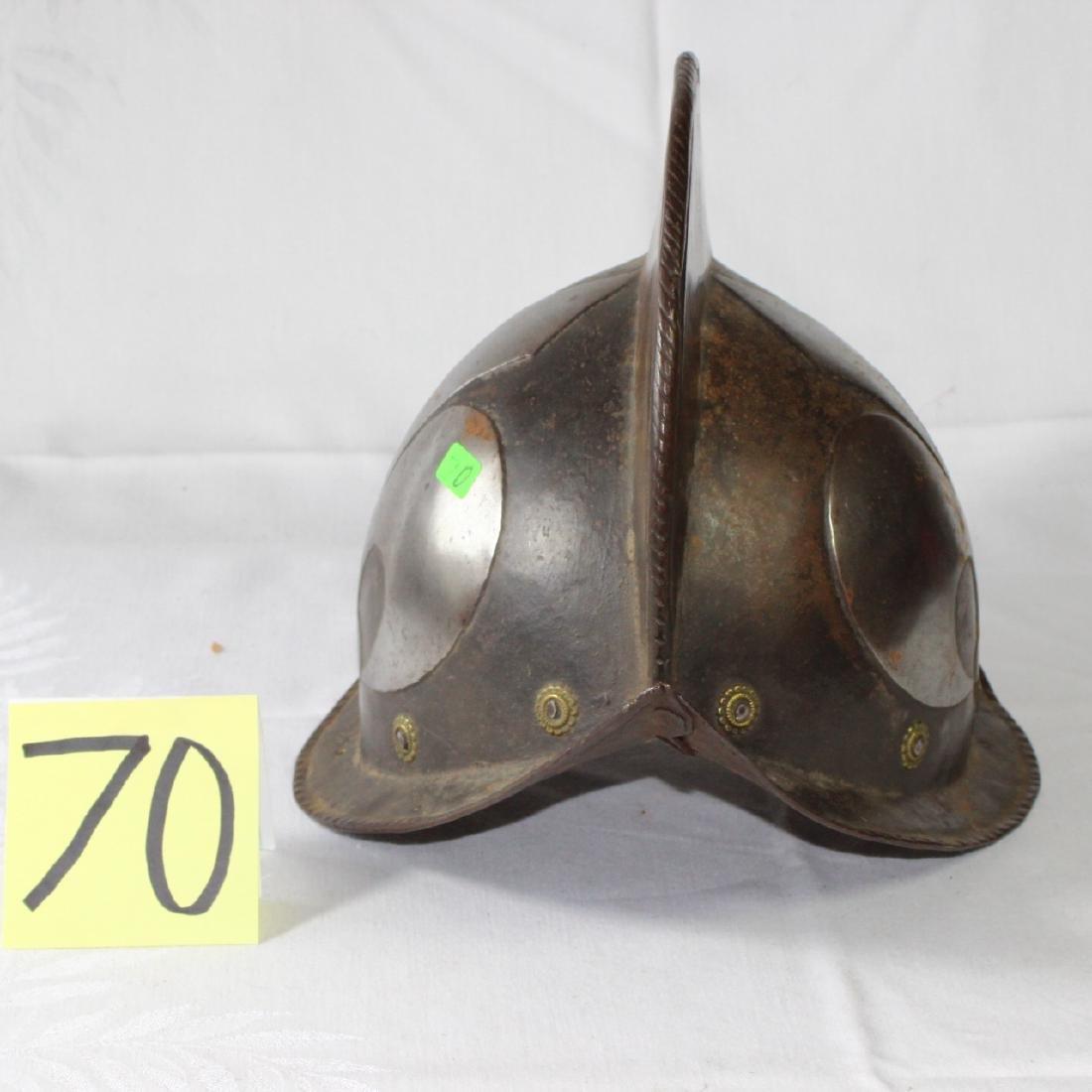 Antique German Morion Helmet Fleur De Lis ca 1600 - 2