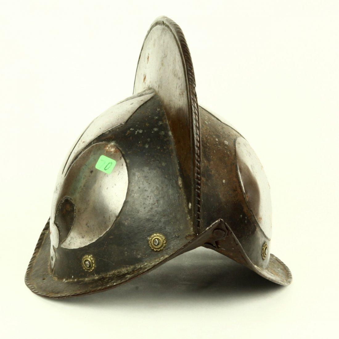 Antique German Morion Helmet Fleur De Lis ca 1600 - 4