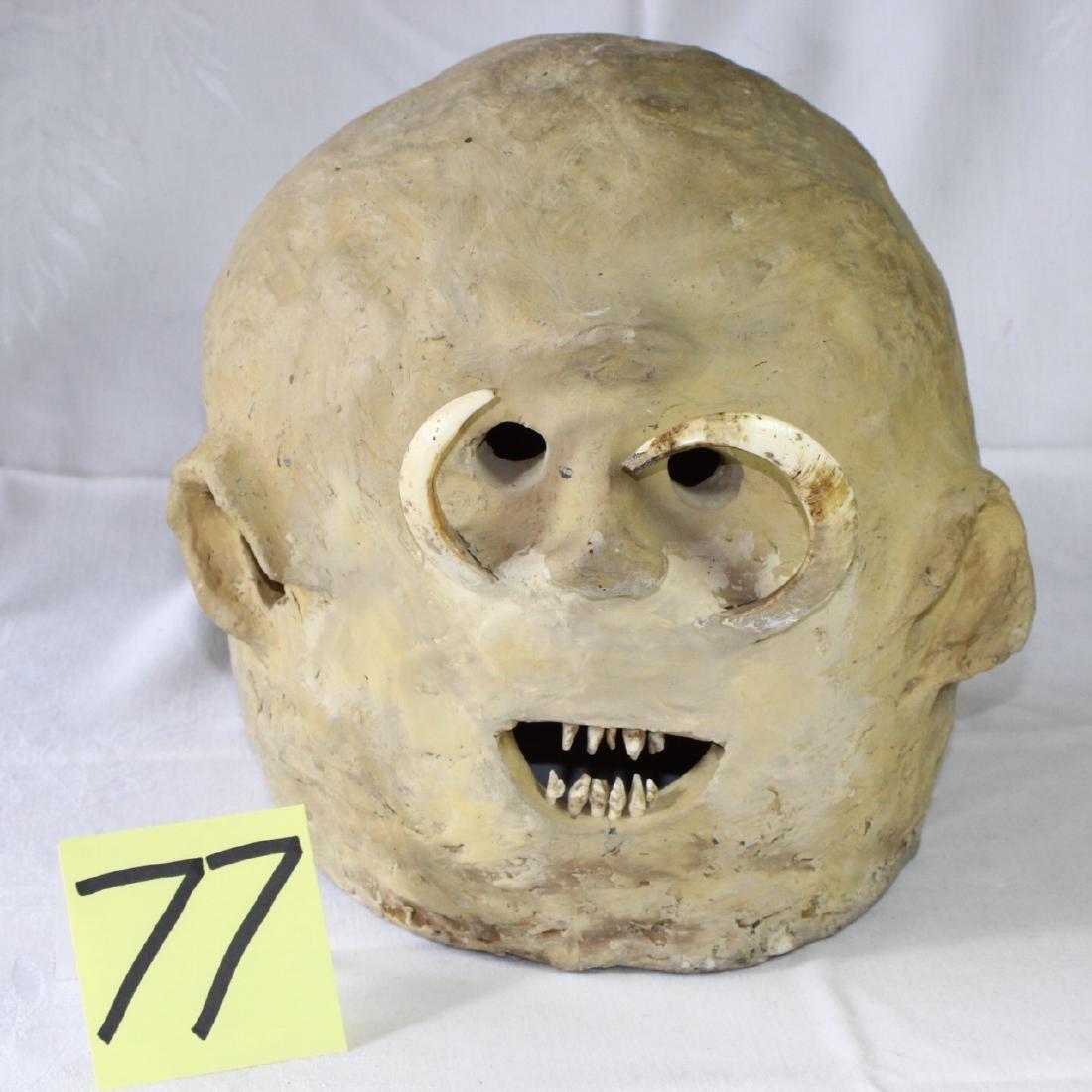 Papua New Guinea Asaro Mudmen Mud Mask Holosa Tusks