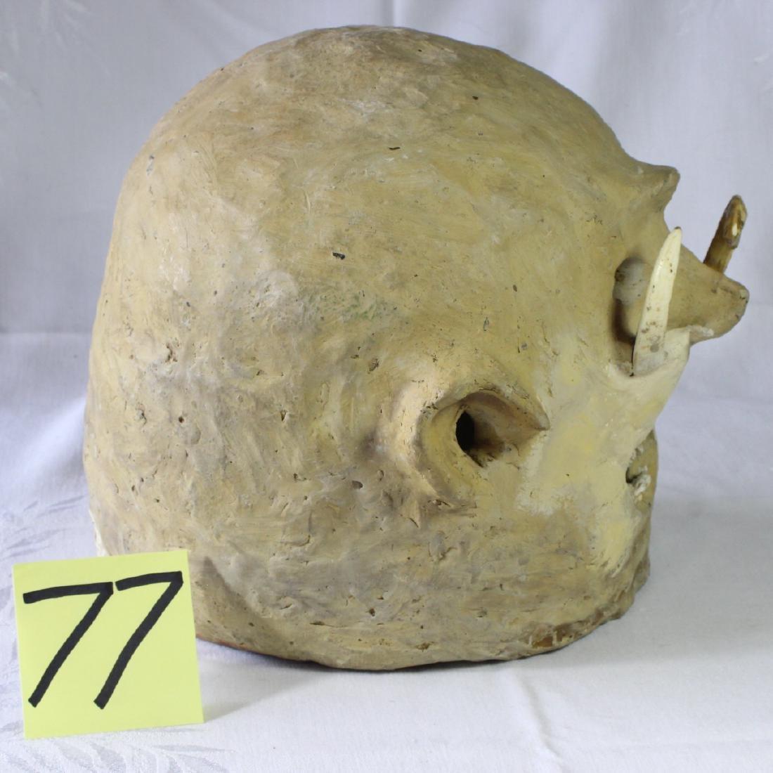 Papua New Guinea Asaro Mudmen Mud Mask Holosa Tusks - 3